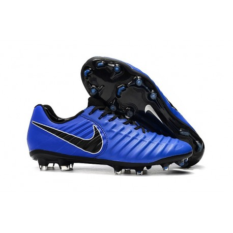 Nike Tiempo Legend 7 Elite FG New Soccer Cleats - Blue Black