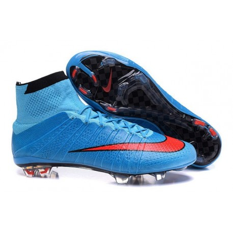 Nike Mercurial Superfly FG New Men Football Cleats Blue Red