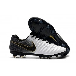 Nike Tiempo Legend 7 Elite FG New Soccer Cleats - White Black Gold