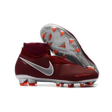 Nike Phantom Vision Elite Dynamic Fit FG Cleat - Red Silver