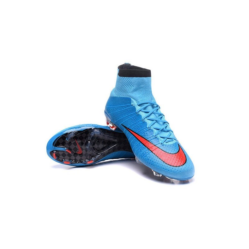 new style b11e0 f12f2 ... nike mercurial superfly red and blue ...