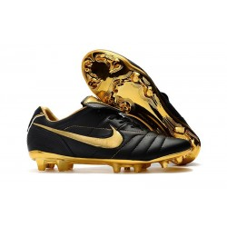 Nike Tiempo Legend 7 R10 Elite FG New Soccer Cleats - Black Golden