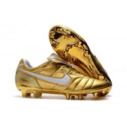 Nike Tiempo Legend 7 Elite FG New Soccer Cleats - Gold White