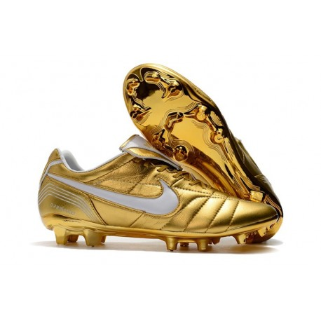 Nike Tiempo Legend 7 Elite FG New Soccer Cleats - Gold White