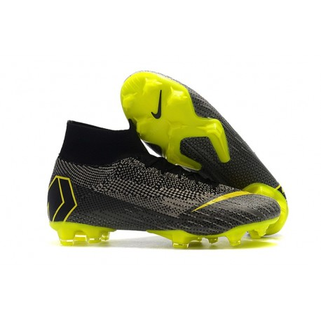 Nike Mercurial Superfly 6 Elite FG Firm Ground Boots - Black Gray Yellow
