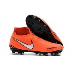 Nike Phantom Vision Elite DF FG Soccer Boots - Orange Silver Black