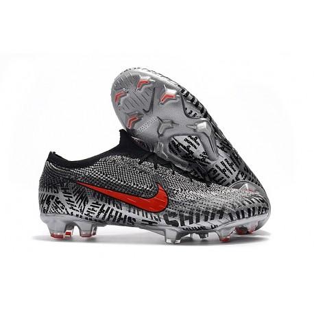Neymar Nike Mercurial Vapor 12 Elite FG Boots - Black White Red