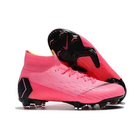 Nike Mercurial Superfly VI 360 Elite FG Cleat - Pink Black