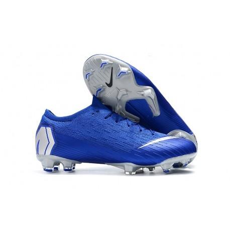 Nike News Mercurial Vapor XII Elite FG Cleats - Blue Silver