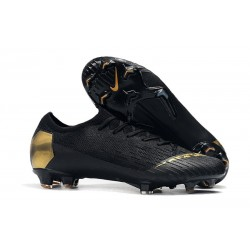Nike News Mercurial Vapor XII Elite FG Cleats - Black Golden