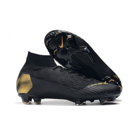 Nike Mercurial Superfly VI 360 Elite FG Cleat - Black Golden