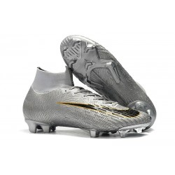Nike Mercurial Superfly VI 360 Elite FG Cleat - Silver Black Golden