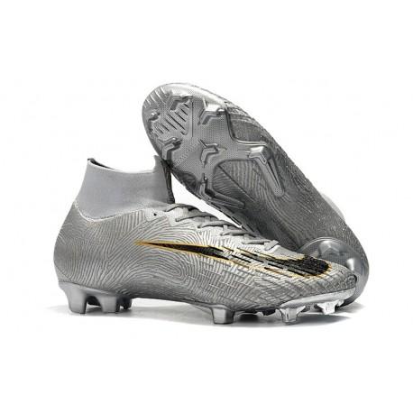 Nike Mercurial Superfly VI 360 Elite FG Cleat - Silver Black Golden