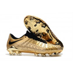 Nike Hypervenom Phantom 3 FG Soccer Shoes - Golden Black
