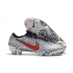 Nike Neymar Mercurial Vapor XII Elite FG Cleats - White Black Red