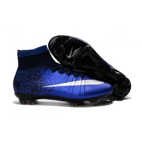 Nike Mercurial Superfly FG New Men Football Cleats Hyper Cobalt Silver