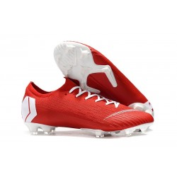 Nike News Mercurial Vapor XII Elite FG Cleats - Red White