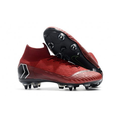 f61e80559 Nike Mercurial Superfly VI Elite SG-Pro AC Boots - Red Black