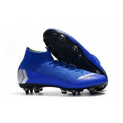 Nike Mercurial Superfly VI Elite SG-Pro AC Boots - Blue Silver