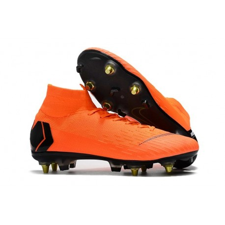 Nike Mercurial Superfly VI Elite SG-Pro AC Boots - Orange Black