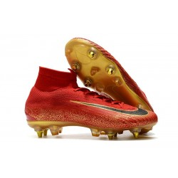 Cristiano Ronaldo Nike Mercurial Superfly VI Elite SG-Pro AC Boots Red