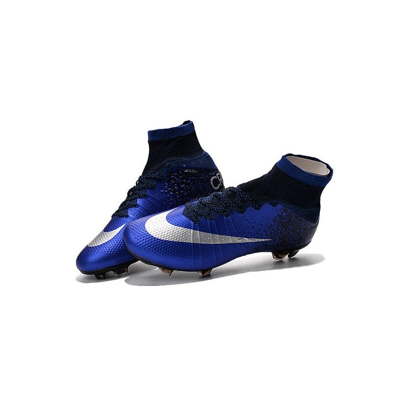 Nike Mercurial Superfly FG New Men Football Cleats Hyper Cobalt Silver bda7b6770