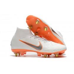 Nike Mercurial Superfly VI Elite SG-Pro AC Boots - White Orange
