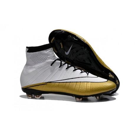 Cristiano Ronaldo New Soccer Boot Nike Mercurial Superfly FG White Gold