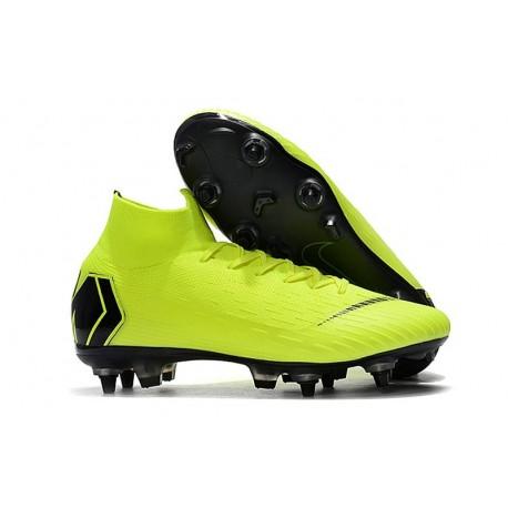 Nike Mercurial Superfly VI Elite SG-Pro AC Boots - Volt Black