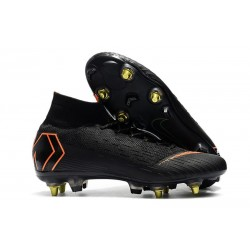 Nike Mercurial Superfly VI Elite SG-Pro AC Boots - Black Orange