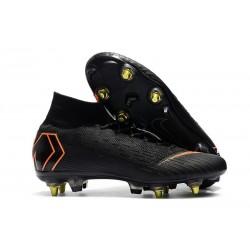 Nike Mercurial Superfly VI Elite SG-Pro AC Boots - Black Orange