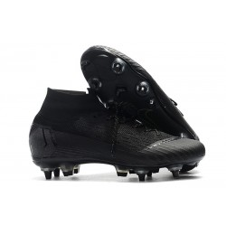 Nike Mercurial Superfly 6 Elite SG Anti-Clog Cleats All Black