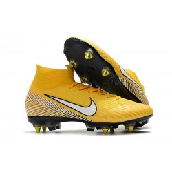 Neymar Nike Mercurial Superfly 6 Elite SG Anti-Clog Cleats Yellow White