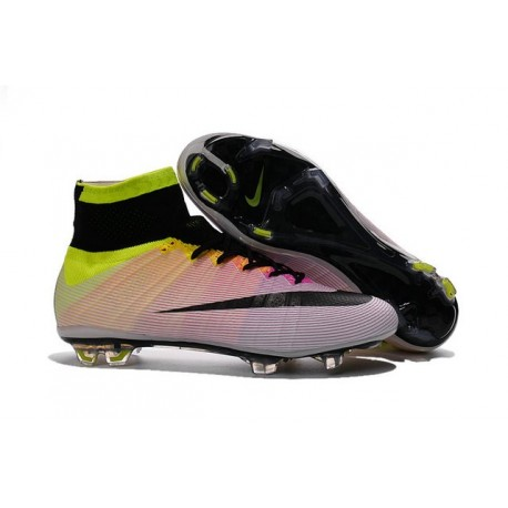 Cristiano Ronaldo New Soccer Boot Nike Mercurial Superfly FG White Volt Orange
