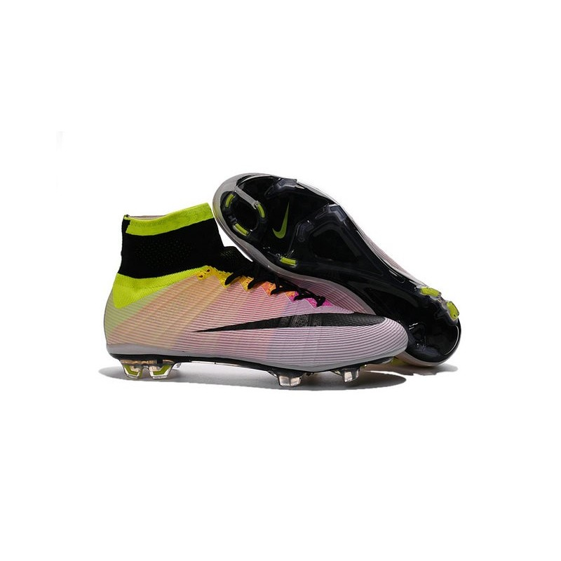 online store 4d3fb bd6db Cristiano Ronaldo New Soccer Boot Nike Mercurial Superfly FG White Volt  Orange