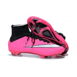 Nike Mercurial Superfly IV FG Mens Football Shoes Pink White