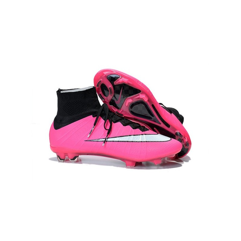Nike Mercurial Superfly IV FG Mens Football Shoes Pink White f0813adf90605