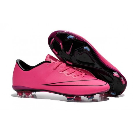 chaussures de séparation 2c41d 7c212 Nike Mercurial Vapor X FG Firm Ground Football Shoes Hyper Pink