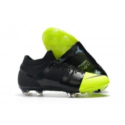Nike Mercurial Greenspeed 360 FG Soccer Boots - Black Metallic Silver Volt