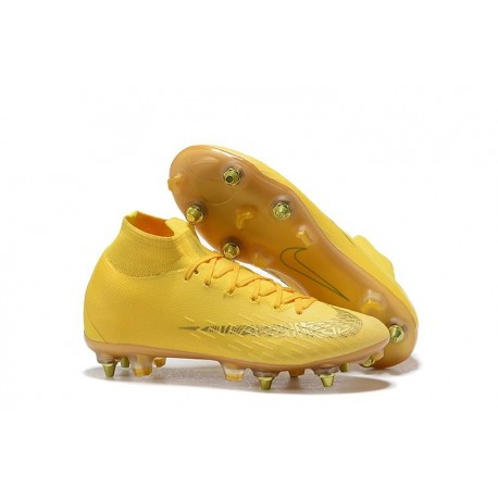 Nike Mercurial Superfly 6 Elite SG Anti-Clog Cleats Yellow Gold