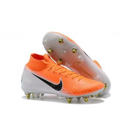 Nike Mercurial Superfly 6 Elite SG Anti-Clog Cleats Orange White