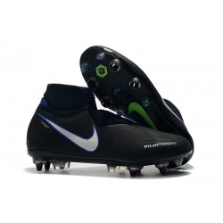 Nike Phantom Vision Elite DF SG-Pro Anti-Clog Black Blue Silver