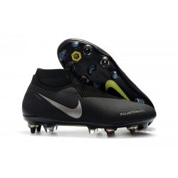 Nike Phantom Vision Elite DF SG-Pro Anti-Clog Black Silver