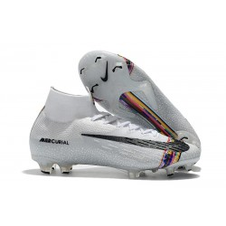 Nike Mercurial Superfly VI 360 Elite FG Cleat - Platinum White Black