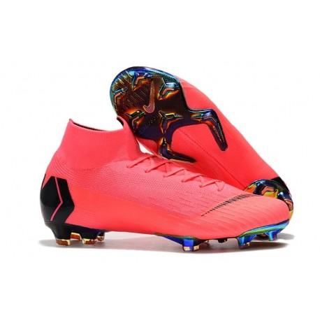 Nike Mercurial Superfly VI 360 Elite FG Cleat - Pink Black