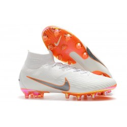 Nike Mercurial Superfly 6 Elite AG-Pro Soccer Cleats White Orange