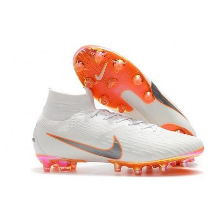 Nike Mercurial Superfly 6 Elite AG-Pro Soccer Cleats White Orange