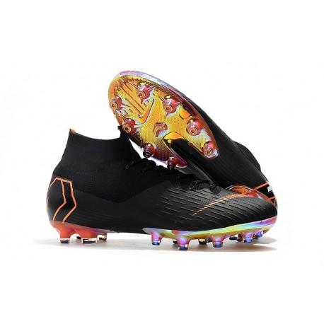 Nike Mercurial Superfly 6 Elite AG-Pro Soccer Cleats Black Orange