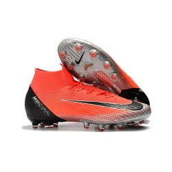 Nike Mercurial Superfly 6 Elite AG-Pro Soccer Cleats Crimson Metal Silver Black