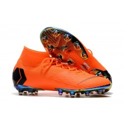 Nike Mercurial Superfly 6 Elite AG-Pro Soccer Cleats Orange Black